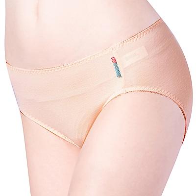 思薇爾 單品褲系列M-XXL素面小孔中腰三角內褲(纓丹橘)