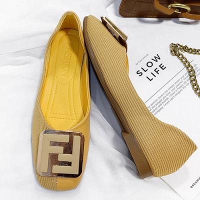 KEITH-WILL時尚鞋館 美型時尚拼接方頭鞋-黃