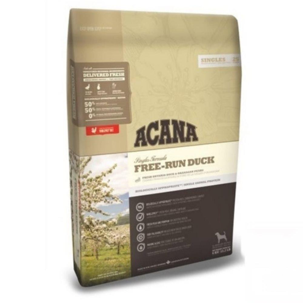 加拿大ACANA愛肯拿-單一蛋白低敏無穀-美膚鴨肉+梨子(心血管保健) 2KG/4.4LB (2包組)