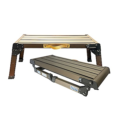 金德恩 台灣製造 中型提把可攜式摺疊平台梯76x30x36cm