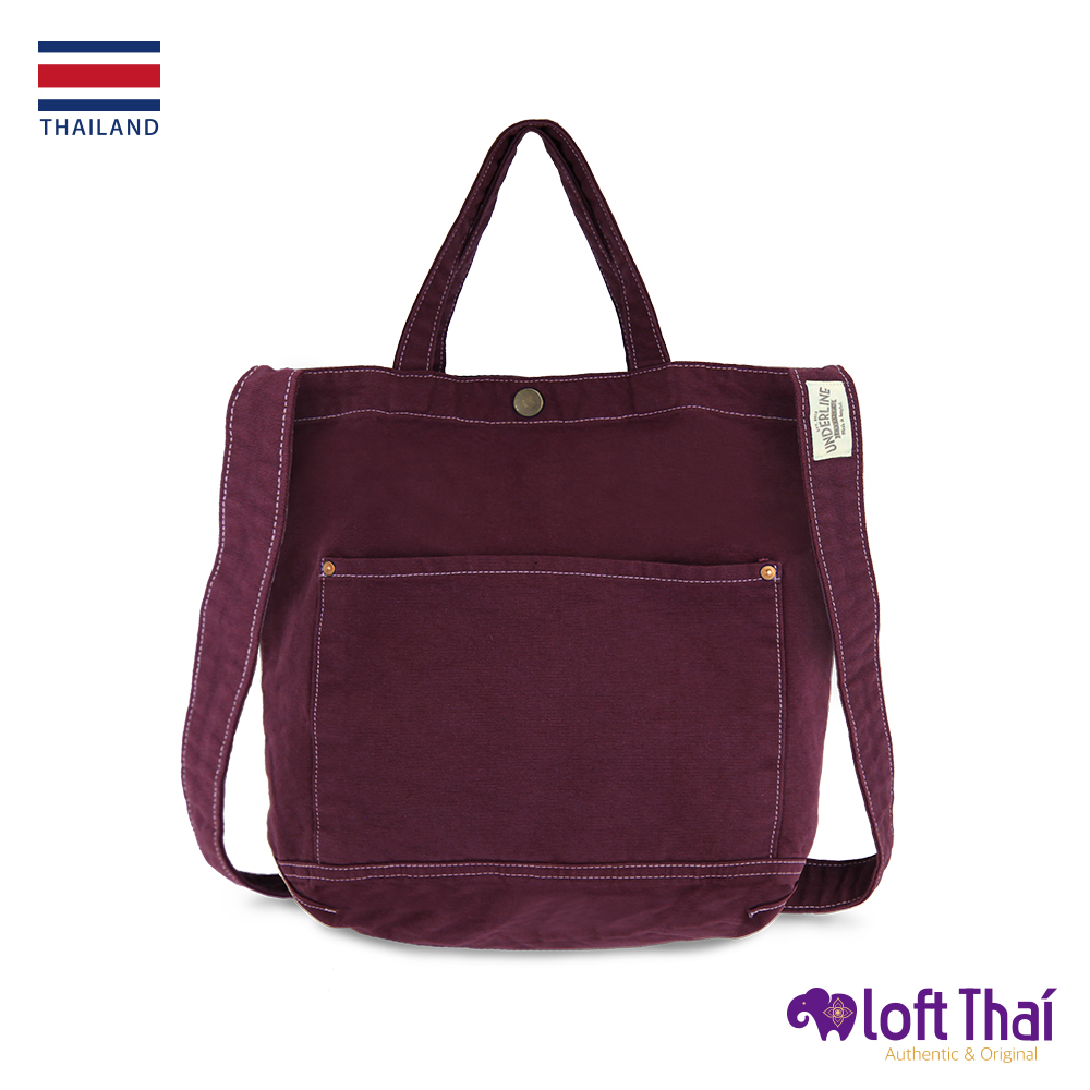 Loft THAI | 泰.兩用水洗帆布單肩包 | Maroon