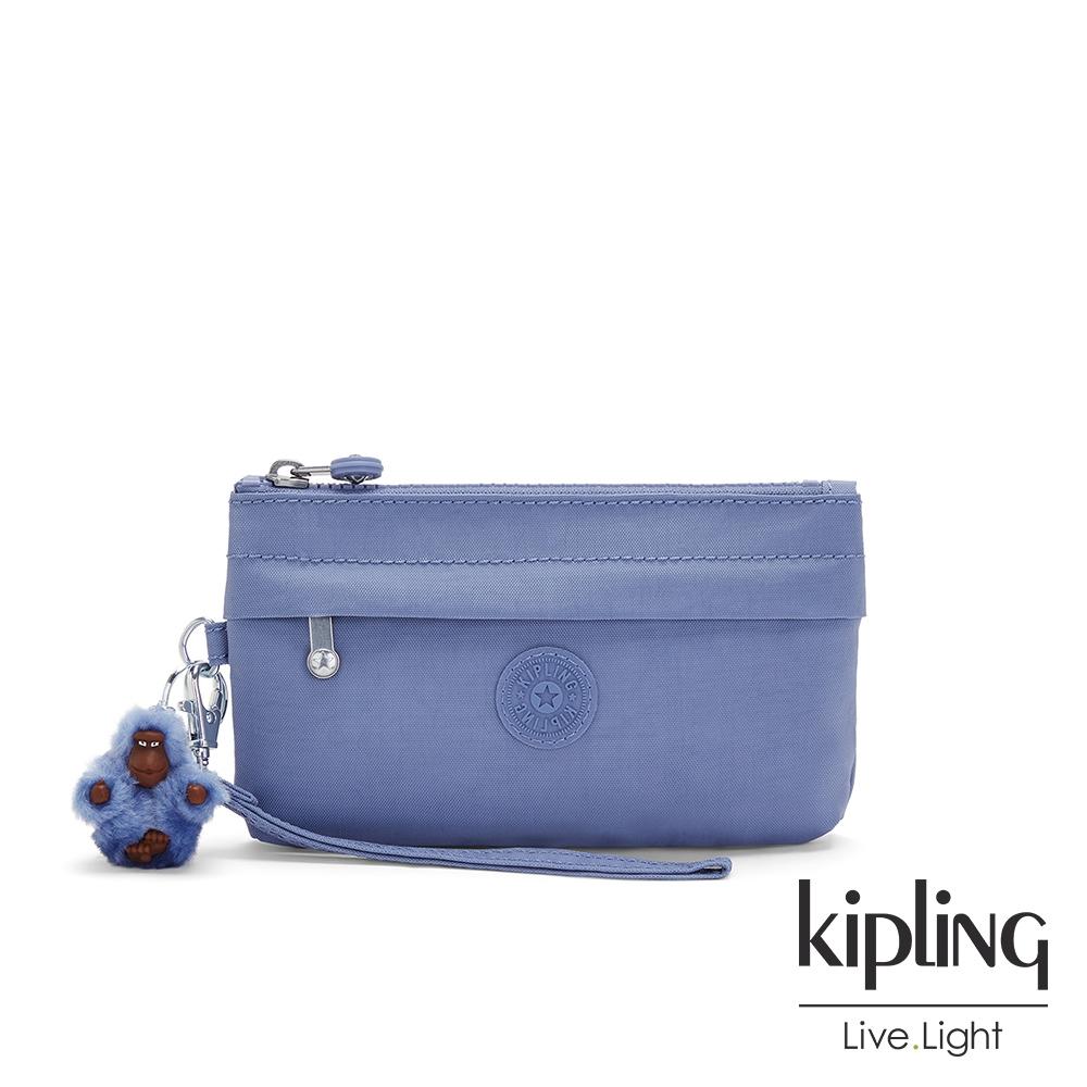 Kipling 時髦藍紫色手拿配件包-NIYLAH