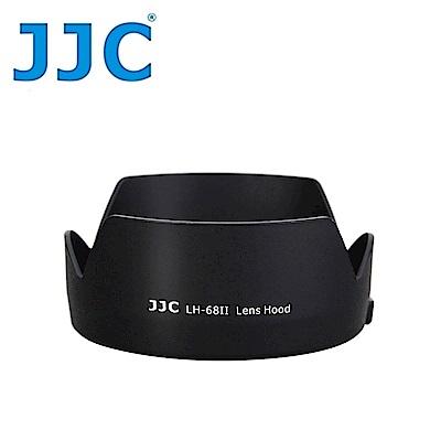 JJC佳能Canon副廠ES-68遮光罩(蓮花型,黑色)LH-68II