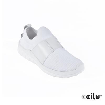 CCILU 彈性織布運動休閒鞋-男款-301301002白色