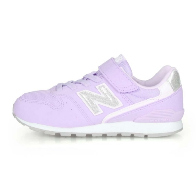 NEWBALANCE 中童復古慢跑鞋-WIDE 紫白銀