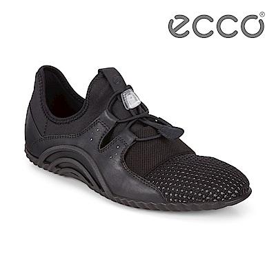 ECCO VIBRATION 1.0 活力拼接運動休閒鞋 女-黑