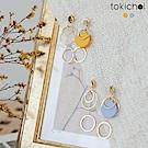 東京著衣 馬卡龍多圓圈耳針式耳環(共二色)