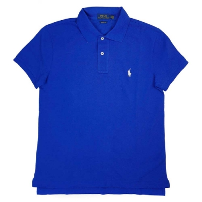 Polo Ralph Lauren 小馬Logo寶藍色短袖網眼Polo衫(Classic Fit)