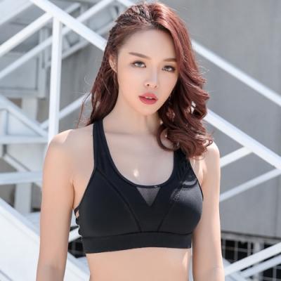 狐狸姬-中紗性感運動內衣背心路跑內衣瑜珈衣(單內衣)