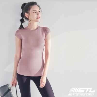 STL Essence Stretch Volume 韓國無肩線短袖機能素色上衣 本質伸展霧粉