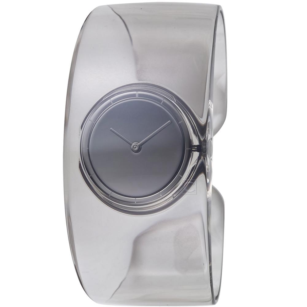 ISSEY MIYAKE三宅一生O系列透明手鐲腕錶(SILAW002Y)-煙霧