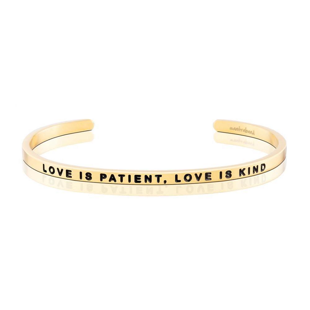MANTRABAND Love Is Patient,Love Is Kind 金色手環