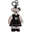 PRADA TRICK ORSETTO 時尚洋裝造型小熊吊飾/鑰匙圈(米色/黑配件)