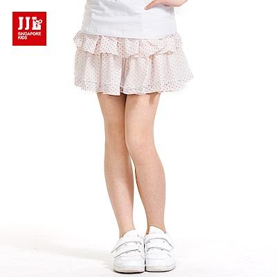 JJLKIDS 可愛小點點蛋糕短裙(本白)