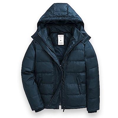 101原創 極暖風衣羽絨夾克-男-寶藍