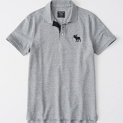 AF a&f Abercrombie & Fitch POLO 灰色 0976