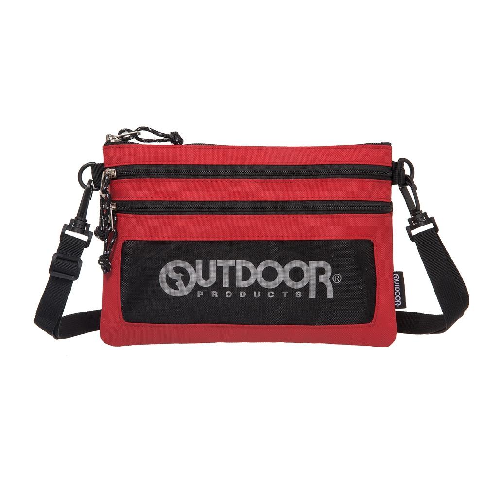 【OUTDOOR】旅遊配件-橫式隨身包-紅色 ODS18L02RD