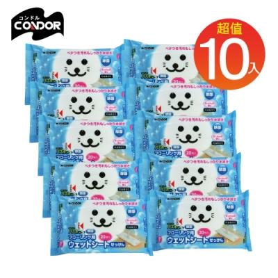 日本山崎 小海豹 地板清潔除菌用濕拖巾10包組