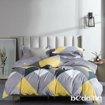 BEDDING-活性印染-特大6x7薄式床包枕套三件式-愛慕