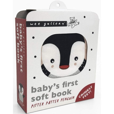 Baby s First Soft Book:Pitter Patter Penguin 企鵝的冒險布書
