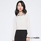 獨身貴族 簡約知性珠光排釦壓褶襯衫(2色)