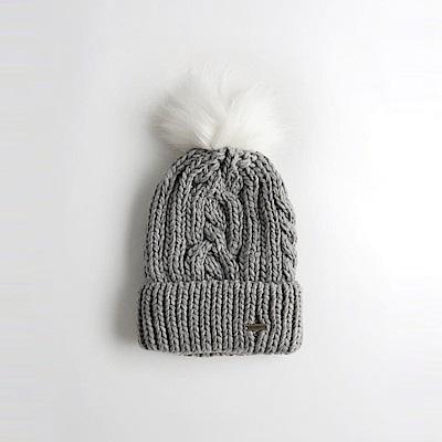 海鷗 Hollister 舒適毛毛保暖毛帽-灰色