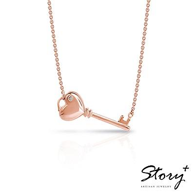 STORY故事銀飾-玫瑰情緣系列-Open Heart 純銀項鍊