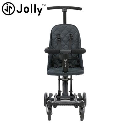【今日限定】英國《Jolly》輕便型摺疊手推車-黑