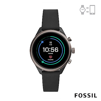 FOSSIL SPORT 運動智能錶-41MM 黑色矽膠