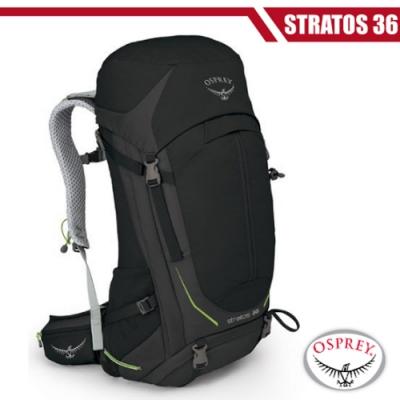 OSPREY 新款 Stratos 36 透氣立體網架健行背包_黑 R