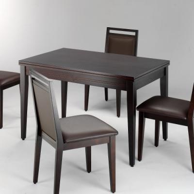 MUNA 安琪拉4.5尺胡桃餐桌(不含椅) 135X81X75cm