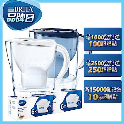 德國BRITA 3.5L馬利拉濾水壺+6入濾芯