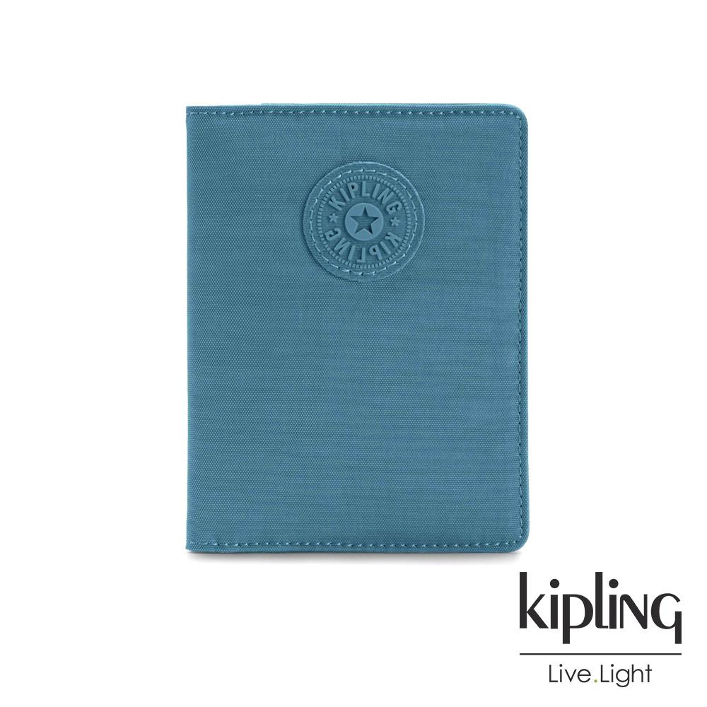 Kipling 靜謐藍綠色收納卡夾-PASSPORT HOLDER