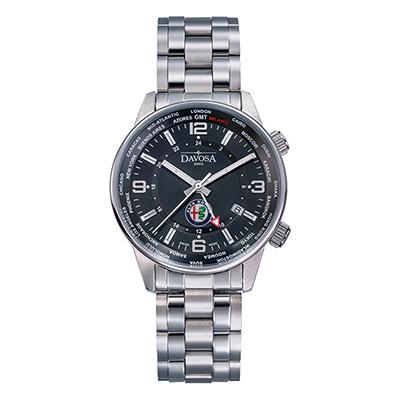 DAVOSA Alfa Romro Dual Time–愛快超雙時區限量錶-黑/42mm