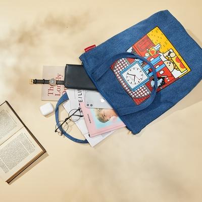 MONDAINE 瑞士國鐵 x 舉牌小人聯名紀念大容量 托特包 / 購物袋 / 肩背包 可放A4 – Swiss Image