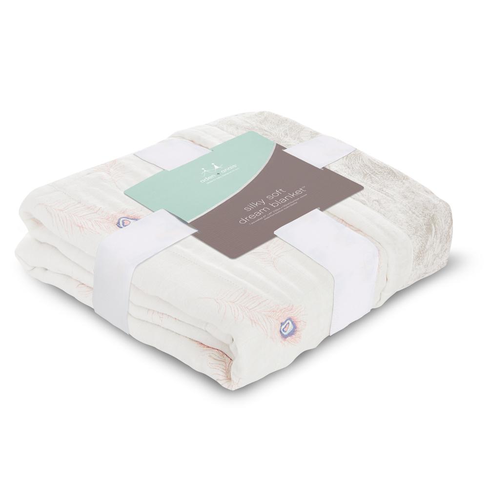 美國aden+anais嬰幼兒絲柔(竹纖維)被毯-典雅描繪系列AA9323