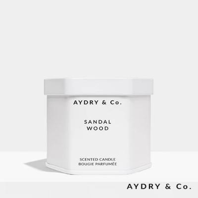 美國 AYDRY & CO. 檀香木 天然手工香氛 極簡純白錫罐 99g