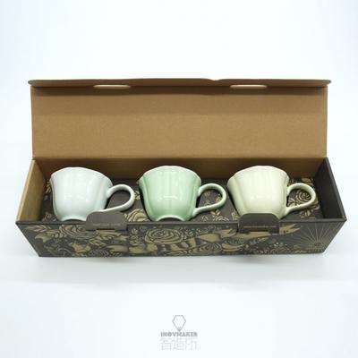 【智造所】H.U.A 小花杯咖啡杯組 黃 綠 青/HUA-CUP-SET