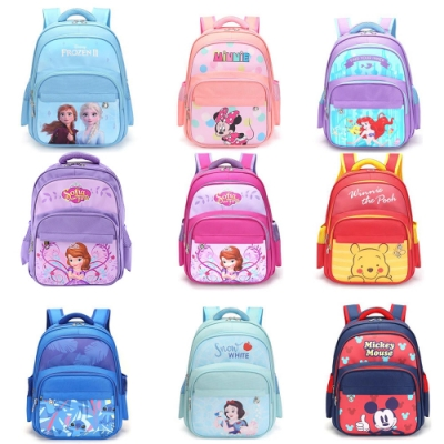 【時時樂限定】DF童趣館 - 正版迪士尼明星多口袋輕量減壓後背包-共9款