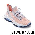 STEVE MADDEN-MAC 玩彩撞色綁帶彈性襪套式休閒球鞋-橘色