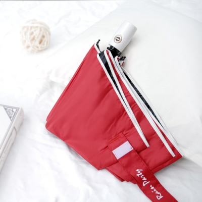 好傘王 自動傘-輕白款防曬降溫黑膠瑜珈傘(磚紅色)