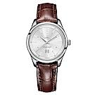 ERNEST BOREL 瑞士依波路錶復古系列 LS906-211BR-銀/皮帶-31mm