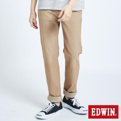 EDWIN JERSEYS 迦績 車織帶AB牛仔褲-男-淺卡其