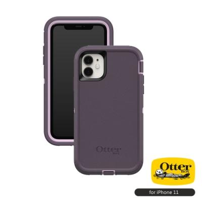 OtterBox iPhone 11 (6.1吋)專用 防刮防塵防摔手機保護殼-Defender防禦者系列■深紫