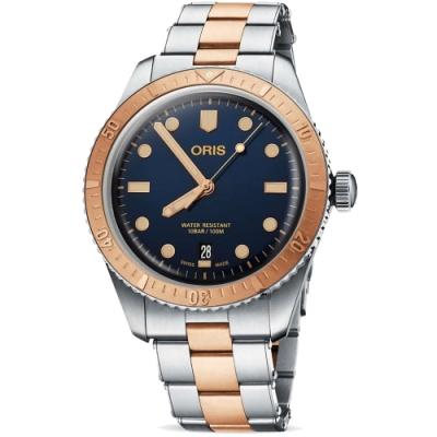 ORIS 豪利時 Sixty-Five 潛水100米機械錶-藍x雙色/40mm