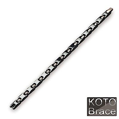 【KOTO】低調時尚中珠玫瑰金精密陶瓷手鏈(C-002RGD)