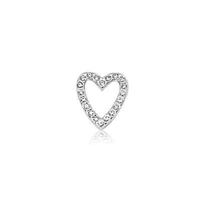 HOURRAE 永恆之心 鏤空鑽心 優雅銀色系列 小飾品