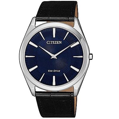 CITIZEN星辰 輕薄時尚光動能腕錶/AR3070-04L