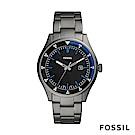 FOSSIL BELMAR 灰色不鏽鋼男錶