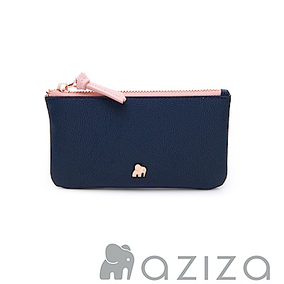 AZIZA 鑰匙零錢包-藍
